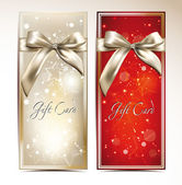 Gift cards with bows and stars — Cтоковый вектор