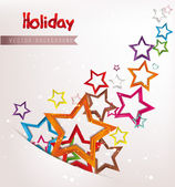 Holiday abstract background with colorful stars — Stock Vector