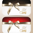 Elegant holiday cards with bows — Image vectorielle