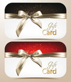 Elegant holiday cards with bows — Vector de stock