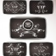 Vector platinum vip cards with floral ornament — Imagen vectorial