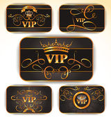 ELEGANT VECTOR VIP GOLD CARDS — Stock Vector