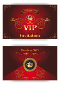 Red invitation VIP envelope in vector — Stock Vector