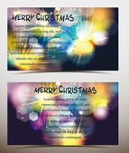 Holiday banners with colorful fireworks. vector illustration — Stock Vector