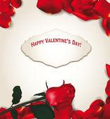 Rose petals frame. Vector illustration — Stock Vector