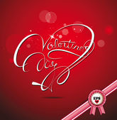 Valentine's Day lettering Greeting Card, vector illustration — Vettoriale Stock