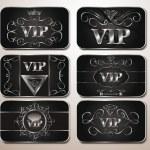 Elegant platinum VIP cards — Stock Vector