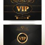 Elegant VIP invitation envelope with gold floral elements — Stock Vector