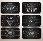 Elegant platinum VIP cards — Stock Vector
