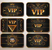 Elegant gold VIP cards — Stock Vector