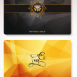 Stock Vector: Set of gold Vip cards with abstract background