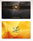 Set of gold Vip cards with the abstract background — Stock Vector