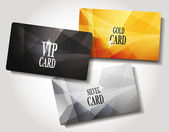 Set of cards — Stock Vector