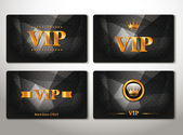 Set of vip cards with abstract background — Stock Vector