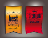 Best and premium quality vector labels — Stock Vector