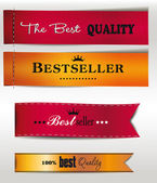 Best Seller and the best Quality textile labels — Stock Vector