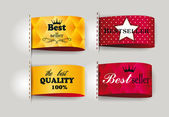 Bestseller and the best Quality labels — Stock Vector