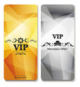 Vip cards with the floral design elements — Stock Vector