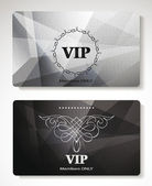 Platinum Vip cards with the abstract background — Stock Vector