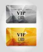 Conjunto de abstracto vip gold y platinum cards — Vector de stock