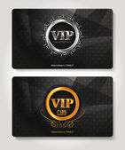 Set of abstract Vip members only cards — Stock Vector
