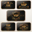 Set of elegant gold Vip cards — Stock Vector #46316119