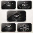 Set of elegant platinum Vip cards — Stock Vector