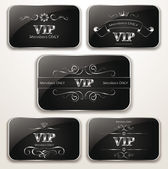 Set of platinum vintage Vip cards — Stockvector