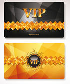 Gold Vip cards with the abstract background — Stock Vector