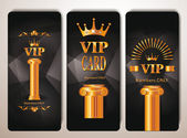 Set of vip cards with column — Stock Vector