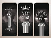 Set of platinum vip cards with column — Stock Vector