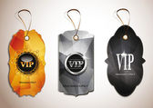 Set of VIP vintage tags — Stock Vector