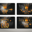 Set of black gold vip cards with abstract background — Stock Vector #48160491