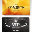 Set of gold vip cards with abstract background with floral elements — Stock Vector #49067445