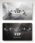 Set of platinum vip cards with abstract background — Stock Vector