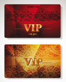 Vip gold cards with the abstract background — Stock Vector