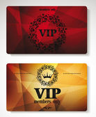 Vip cards with floral design elements and abstract background — Stock Vector