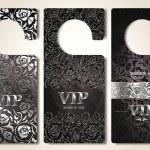 Set of silver VIP door tags — Stock Vector