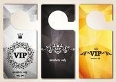 Set of VIP door tags with floral design — Stock Vector