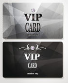 Silver VIP cards with relief background — Stock Vector