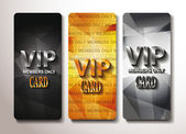 Set of vip cards with relief texture — Stock Vector