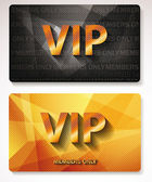 Gold Vip cards — Stock Vector