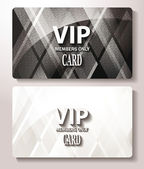 White and black Vip cards with the abstract background — Stock Vector
