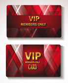 Set of red gold Vip cards with the abstract background — Stock Vector