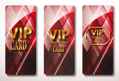 Red Vip cards with the abstract background — Stock Vector