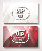 Set of VIP cards with the abstract background — Stock Vector