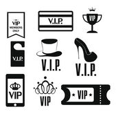 Set of Vip web icons — Stock Vector