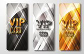 Vip cards with the abstract background — Stock Vector