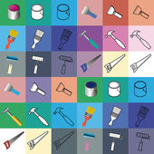 REPAIR tools icons — Stock Vector