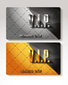 Vip cards with the royal background — Stock Vector